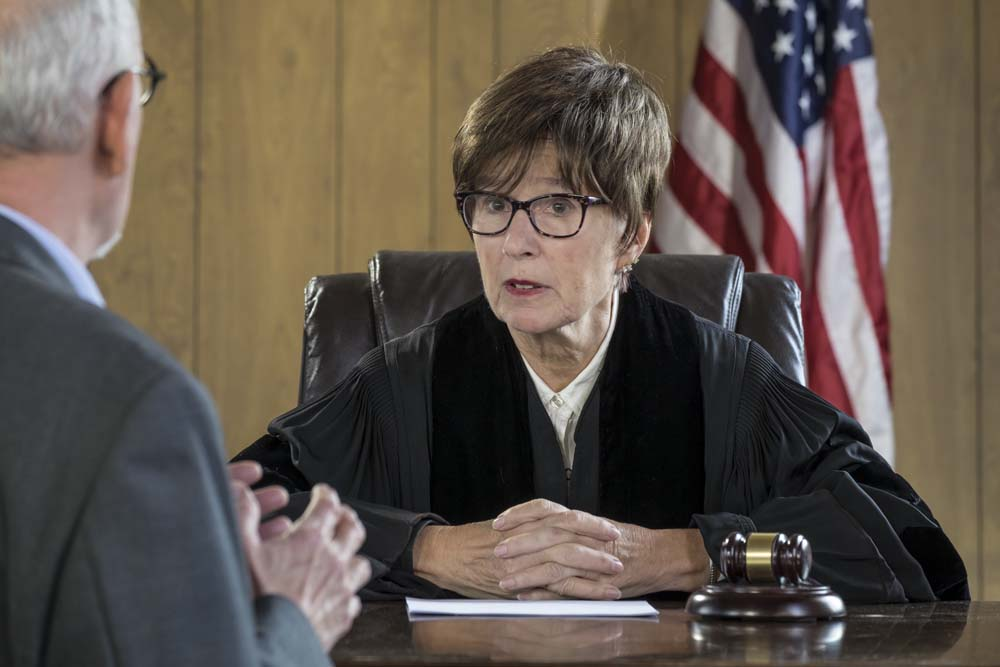 female judge on bench