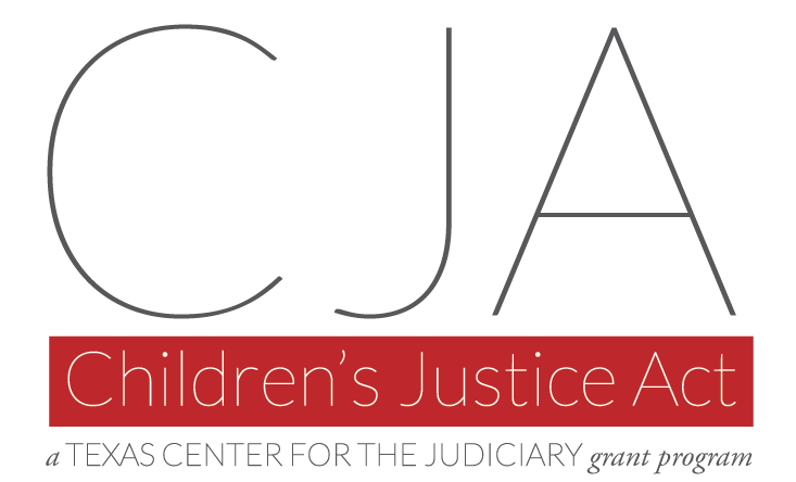 Children's Justice Act, a Texas Center for the Judiciary grant program logo