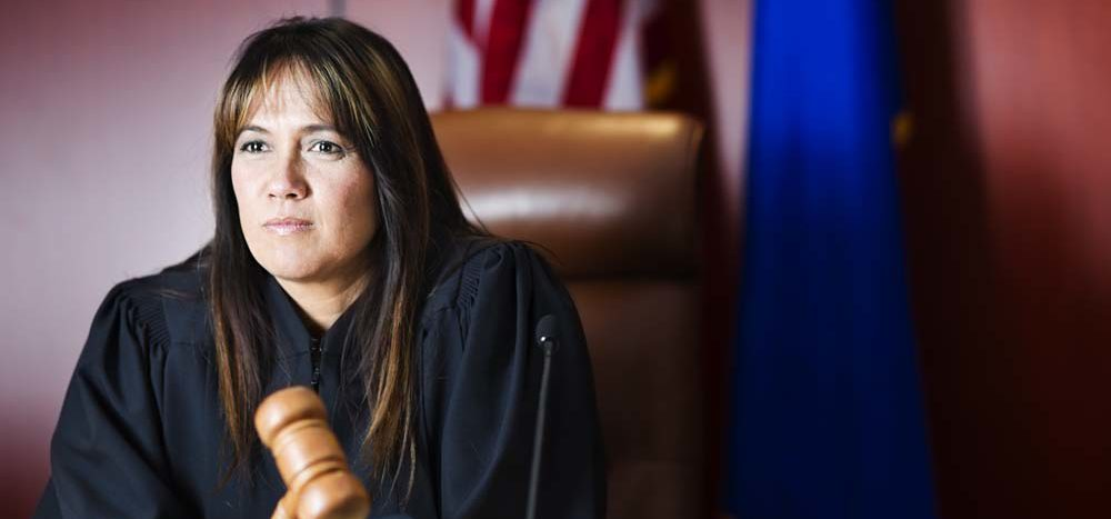 Photo of a judge sitting on the bench.